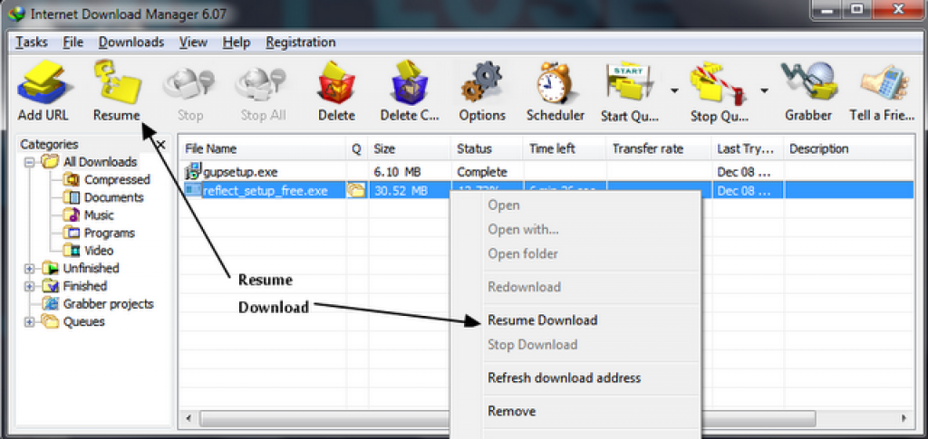 Tcharger Free Download Manager - 01netcom